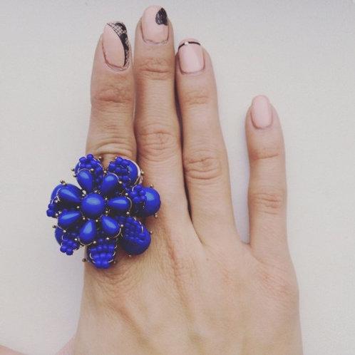 """Ring """"Blå blomst"""""""