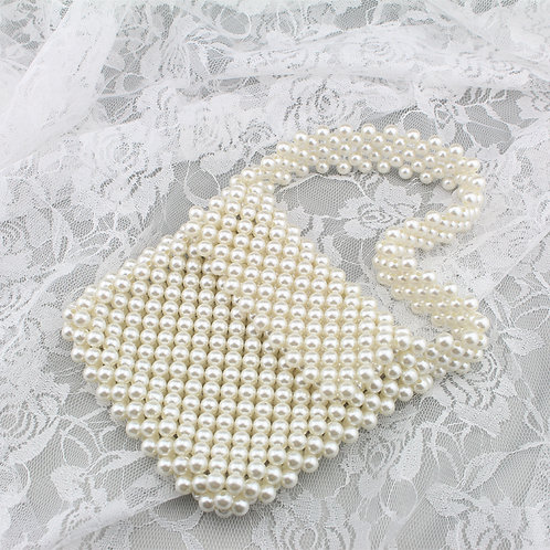 Perle taske med kort hank
