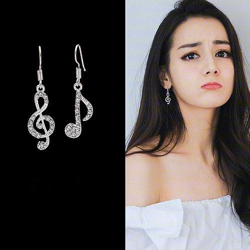 Øreringe med musik symboler