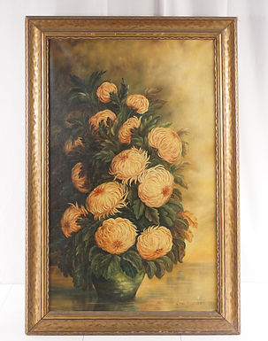 1934 Floral Oil Painting - Signed R Winters