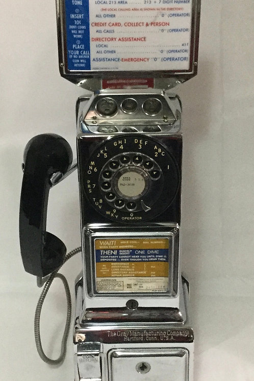 1950s Coin Operated Phone The Gray Manufacturing Company