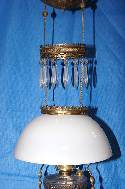 Late 1800s Hanging Oil Lamp