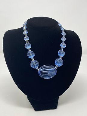 Art Deco Baby Blue Necklace
