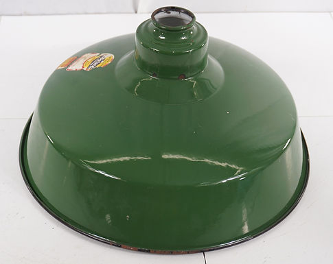 Green Porcelain Industrial Light Fixture Shade