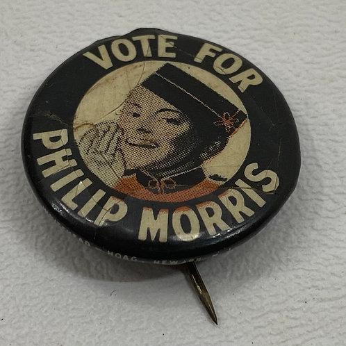 1936 Vote for Philip Morris Button