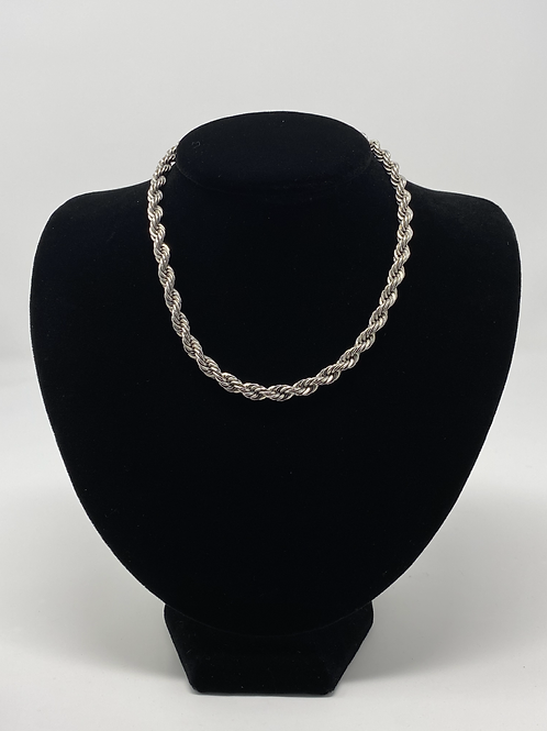 Vintage Napier Silver Plated Rope Necklace