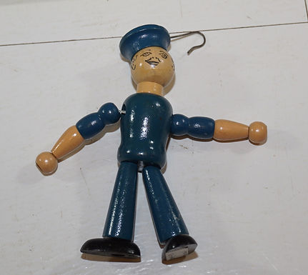 1930s Jointed Wood Sailor Puppet