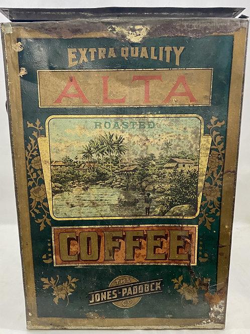 Early 1900s AltaCoffee Bin from The Jones-Paddock Co