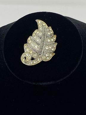 Art Deco Rhinestone Dress Clip