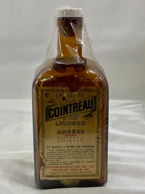 1889 Paris Cointreau Amber Glass Bottle