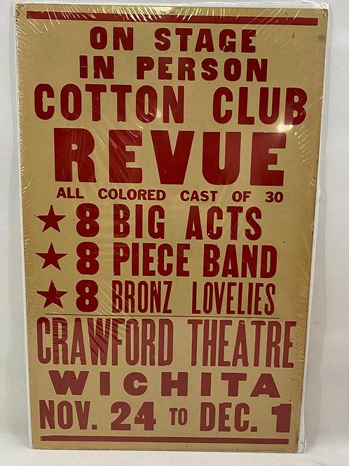 1940s On Stage in Person Cotton Club Revue Crawford Theatre Wichita, KS