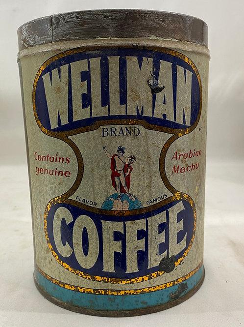 Wellman Coffee Tin