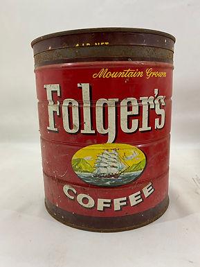 1959 Folger's Coffee Tin