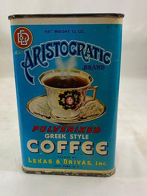 Aristocratic Brand Coffee Tin
