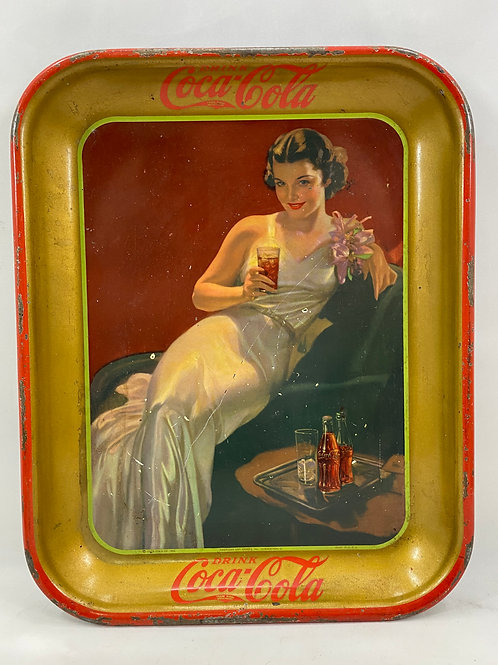 1936 Coca-Cola Metal Tray