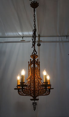 1920s Gothic Style Five Arms Chandelier