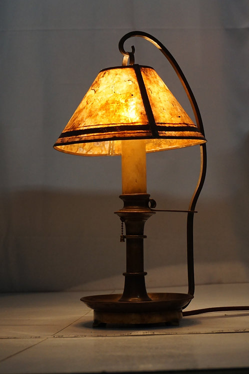 1930s Table Lamp Candle Design And Mica Shade
