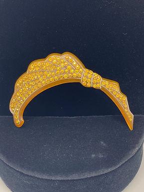 Art Nouveau Style Yellow Topaz Brooch