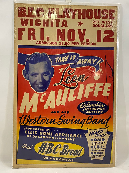 1954 B.E.C. Playhouse Leon McAuliffe andHis Western Swing Band