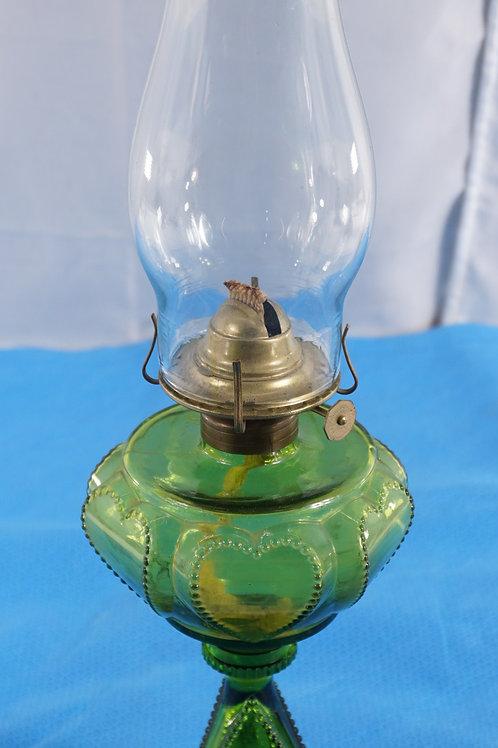 1890s Queen Heart Oil Lamp By Danzel Gilmore - Leighton Co