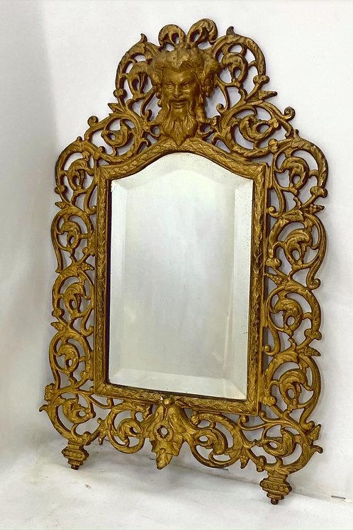 1800s Dionysus Cast Iron Mirror