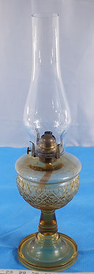 1876 Oil Lamp With Beaded Diamond Ban Design By Union Glass