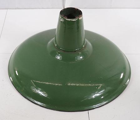 Green Porcelain Industrial Light Fixture Shade