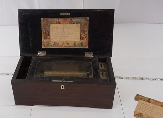 1880s Music Box - Rosewood Cover Box
