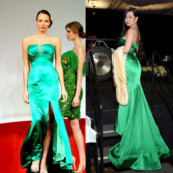 Exotic Emerald gown by Luly Yang Couture