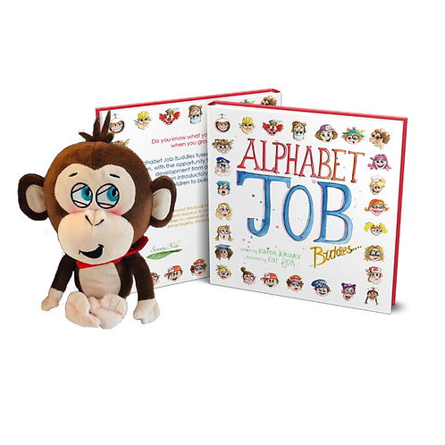 Alphabet Job Buddies & Minky Monkey Plush