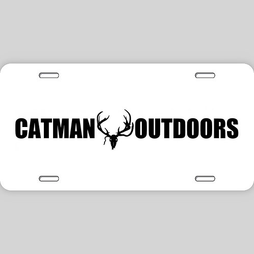 Catman Outdoors License Plate