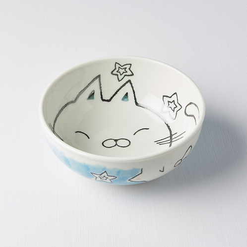 Kids Bowl - Cat Design In & Out 16D - LT Blue