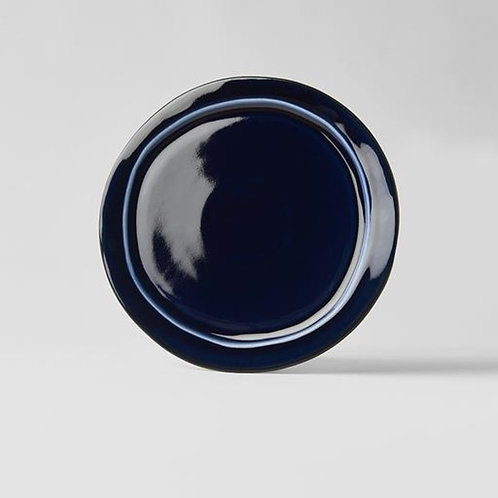 SAPPHIRE BLUE PLATE ROUND OFFCENTRE 25.5CM D