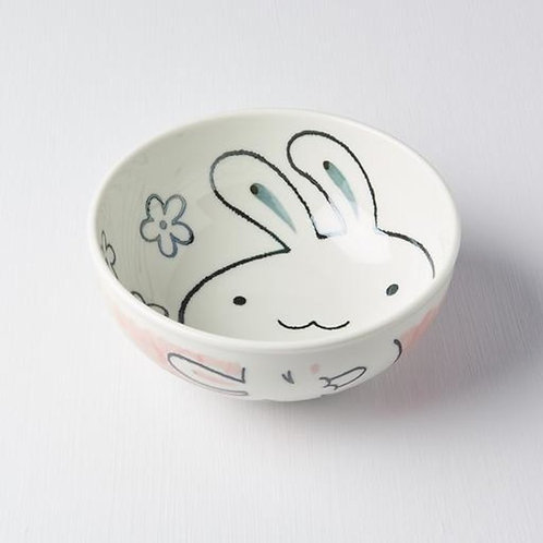 Kids Bowl - Rabbit Design In & Out 16D Pink