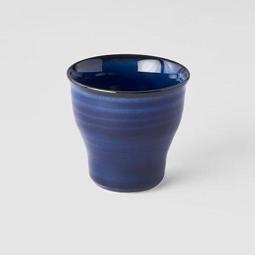 SAPPHIRE BLUE TEACUP FLUTED W' NARROW BASE 7D 6.5H 80ml