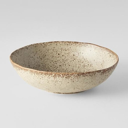 SAND FADE OVAL BOWL MEDIUM 17X15D 5H