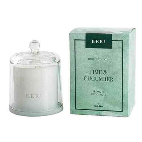 Keri Lime & Cucumber Candle Cloche Set