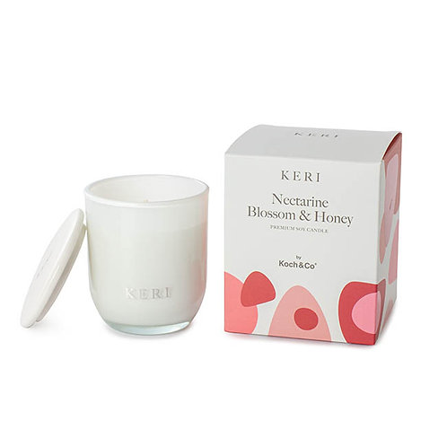 Keri Nectarine Blossom & Honey Lux Soy Candle