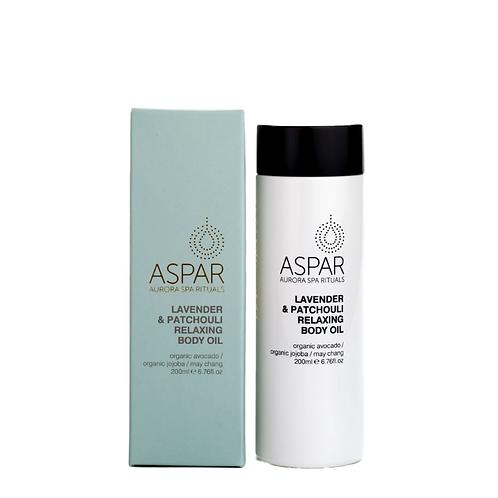 Aspar Lavender & Patchouli Relaxing Body Oil 200ml