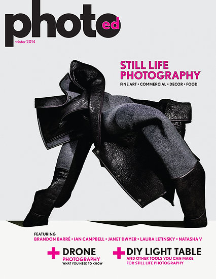 Canada photography magazine, still life, studio photography