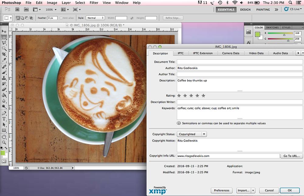coffee boy gives metadata thumbs up!