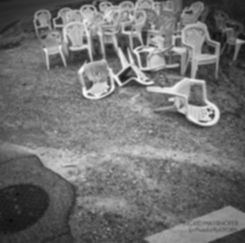 Ingrid Mayrhofer 'Roadside Chairs' - fine art print