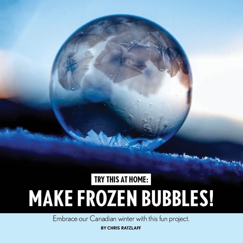 Make Ice bubbles!