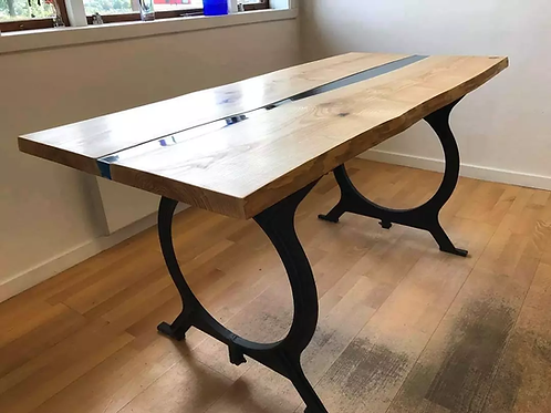 Skrivbord / matbord Ask (river table)