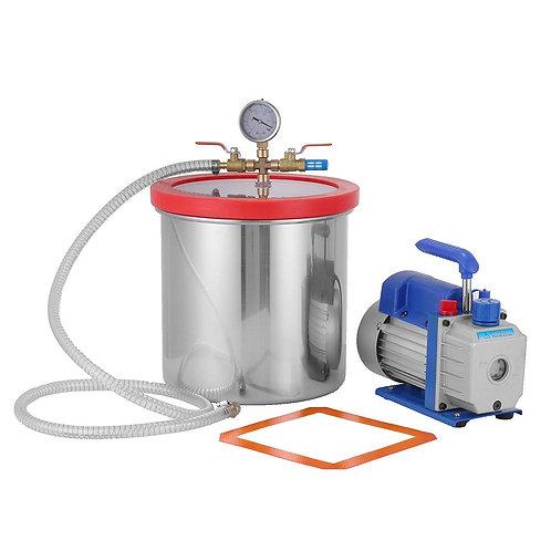 Vakuumkammare och pump 5,6 L, med kylfläkt.