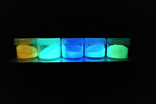 Självlysande (fluorescerande) pulver