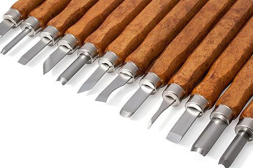 Träsnideringsverktyg 12 delar.