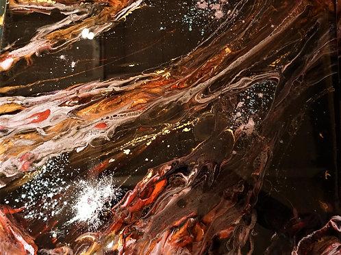 Kometsvans, Epoxy på Canvas *SÅLD*