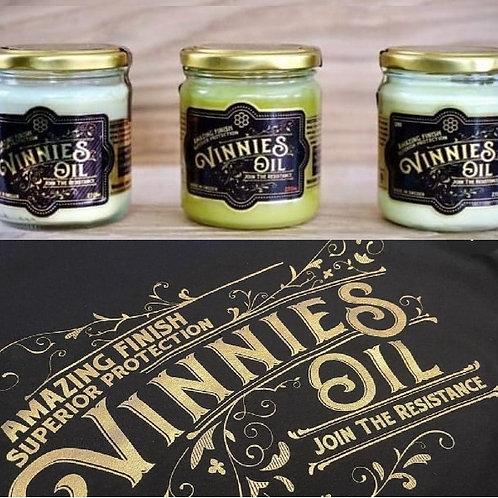 Vinnie's Oil x3. T-shirt på köpet!