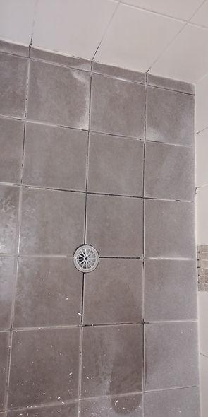 Tiled Shower floor regrout.